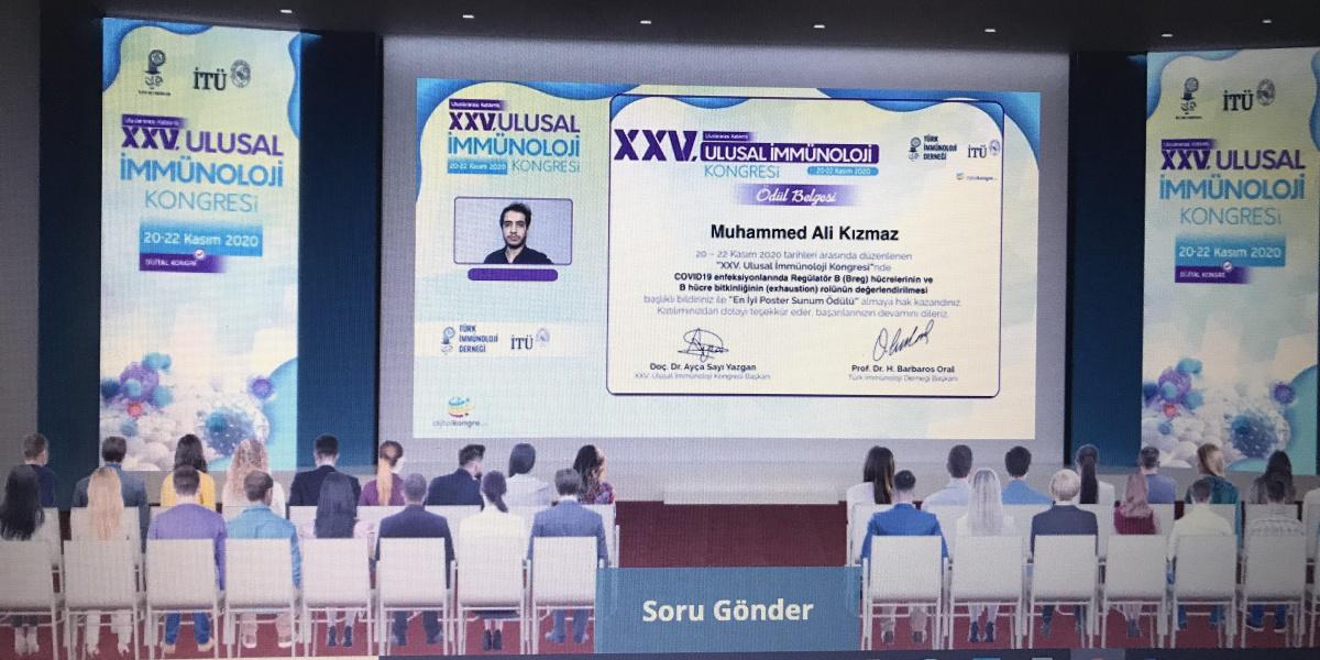 Ulusal İmmünoloji Kongresi'nde en iyi poster ödülü BUÜ'lü akademisyenlere