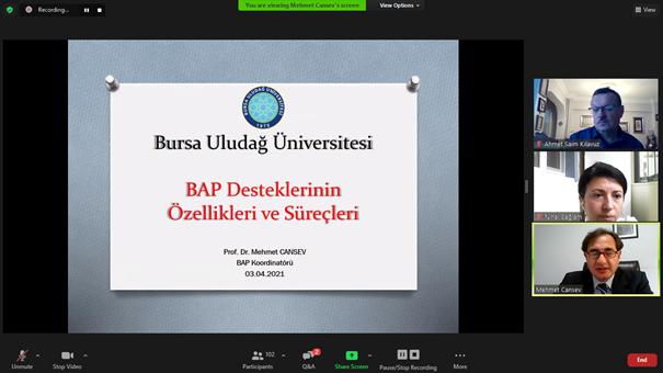 Yeni BAP destekleri üniversiteye tanıtıldı