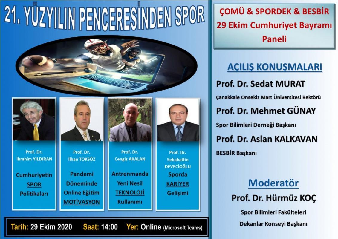 ÇOMÜ & SPORDEK & BESBİR 29 Ekim Cumhuriyet Bayramı Paneli
