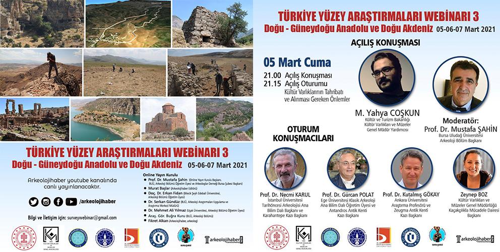 Türkiye Yüzey Araştırmaları Webinarı 3: Doğu - Güneydoğu Anadolu ve Doğu Akdeniz Webinarı