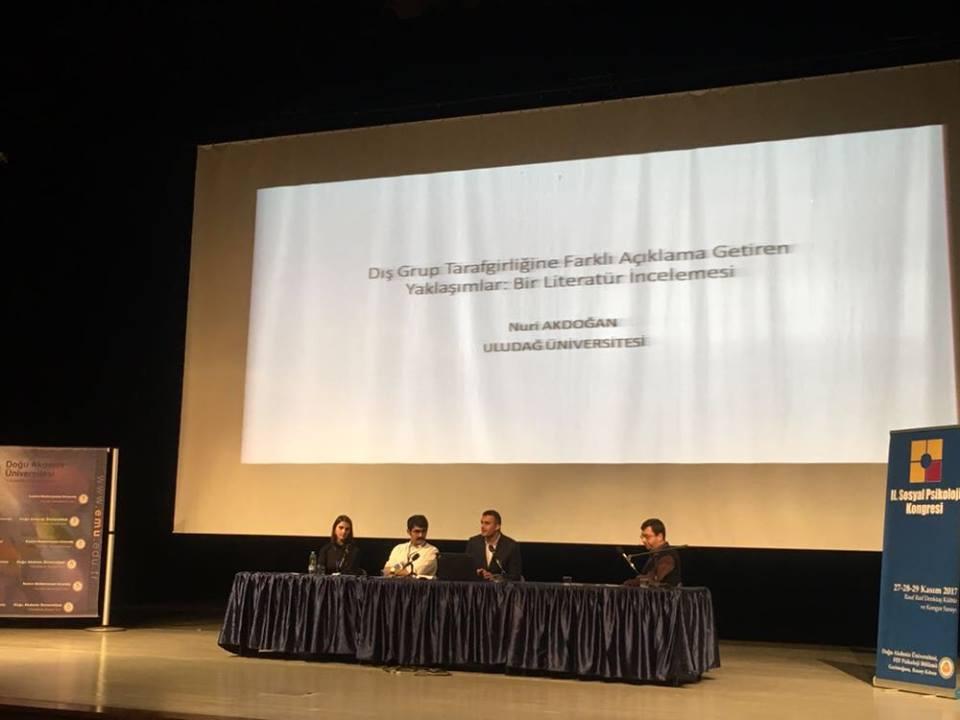 Üyelerimiz II. Sosyal Psikoloji Kongresi'nde bildirilerini sundular.