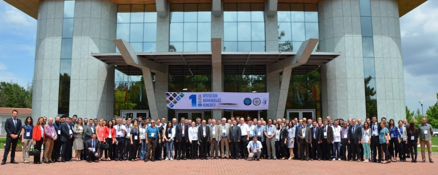 1. Ulusal Biyosistem Mühendisliği Kongresi 9 - 11 Haziran 2015'de başarı ile tamamlanmıştır
