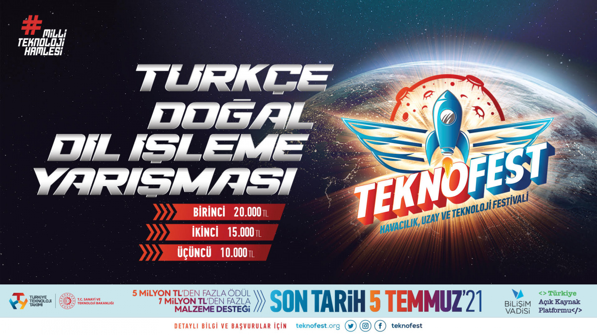 TEKNOFEST Çevrim İçi Türkçe Doğal Dil İşleme Yarışması