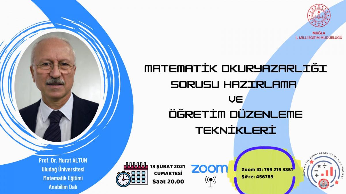 Proje yürütücümüz Prof. Dr. Murat ALTUN hocamız