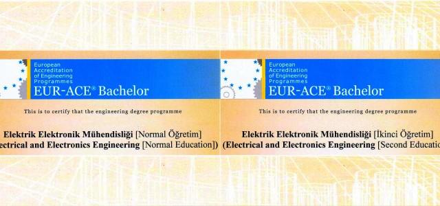 EUR-ACE akreditasyonu