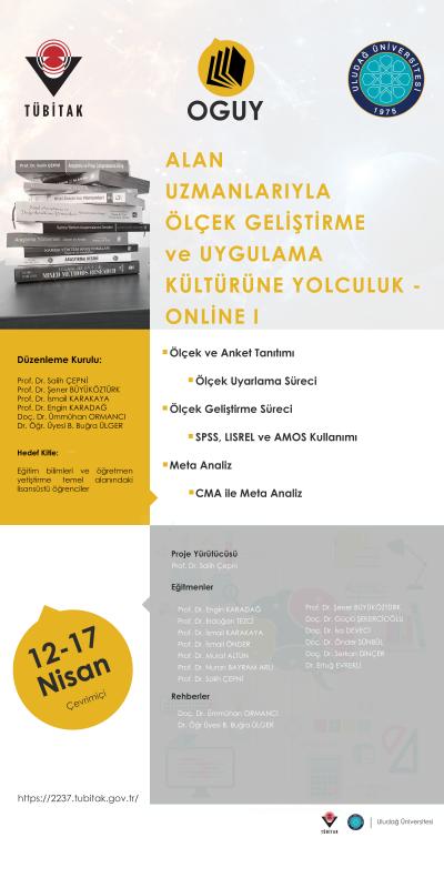 TÜBİTAK 2237 online ölçek geliştirme eğitimine katılımcı alımı devam ediyor
