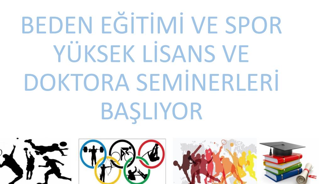 Beden Eğitimi ve Spor Anabilim Dalı Seminer Programları