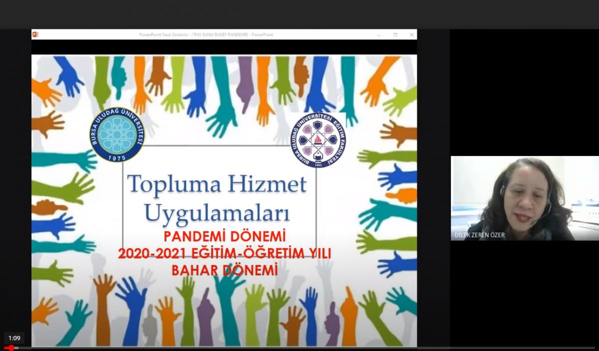 2020-2021 Bahar Dönemi Topluma Hizmet Uygulamaları Koordinatörler Kurulu Toplantısı