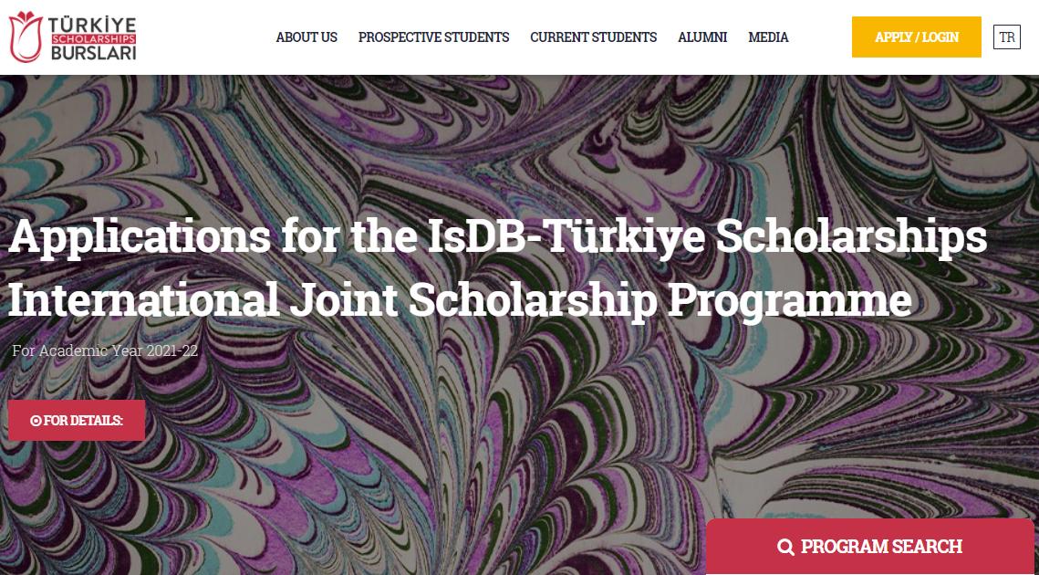 Applications for the IsDB-Türkiye Scholarships International Joint Scholarship Programme
