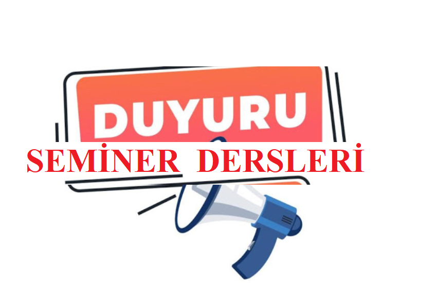 SEMİNER DERSİ