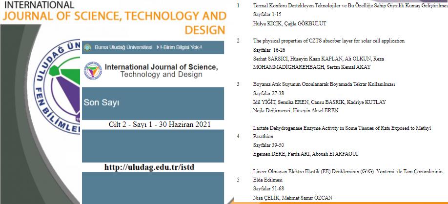 Fen Bilimleri Enstitüsü Dergisi Yeni Sayısı Yayımlandı