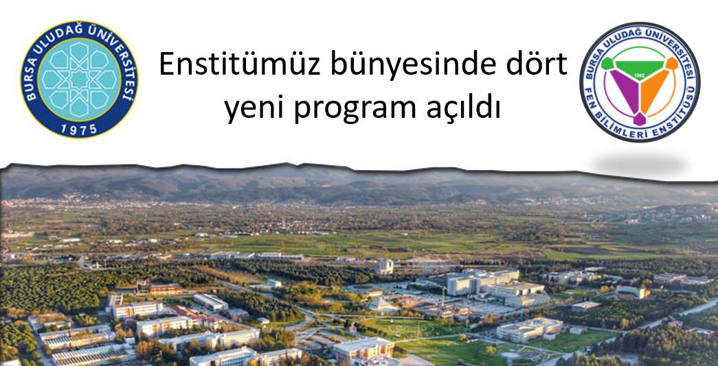 Fen Bilimleri Enstitüsünde 4 Yeni Program
