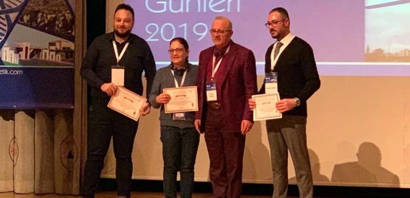 Tıbbi Genetik Anabilim Dalı'na sözlü bildiri ödülleri
