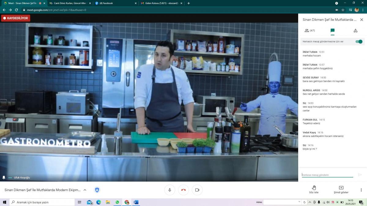 ''Mutfaklarda Modern  Ekipmanlar ve Güncel Teknikler'' Söyleşi
