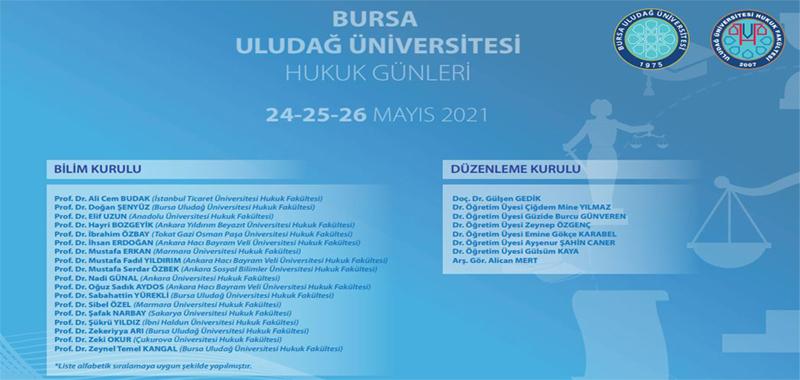 Bursa Uludağ Üniversitesi Hukuk Günleri