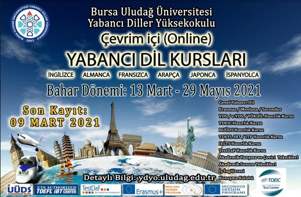 Bahar Dönemi Çevrimiçi (Online) Yabancı Dil Kursları