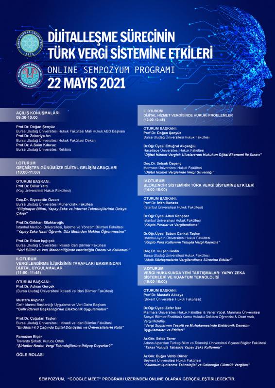 Dijitalleşme Sürecinin Türk Vergi Sistemine Etkileri Sempozyumu- 22 Mayıs 2021