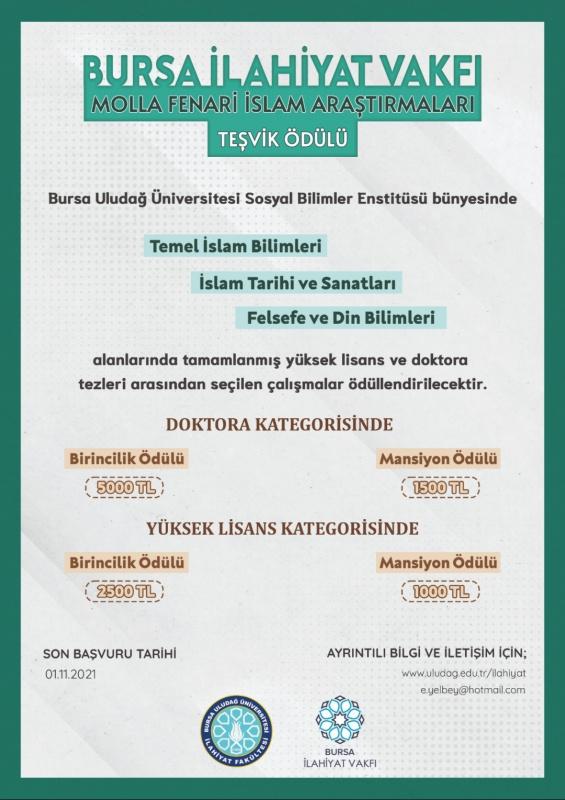 Molla Fenari İslam Araştırmaları Teşvik Ödülü