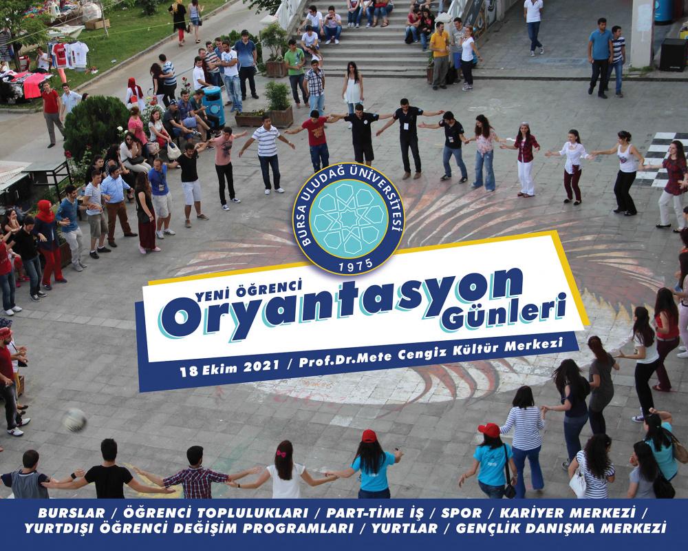 Yeni Öğrenci Oryantasyon Günleri 18 Ekim 2021'de (Mediko) Öğrenci Kültür Merkezi'nde !