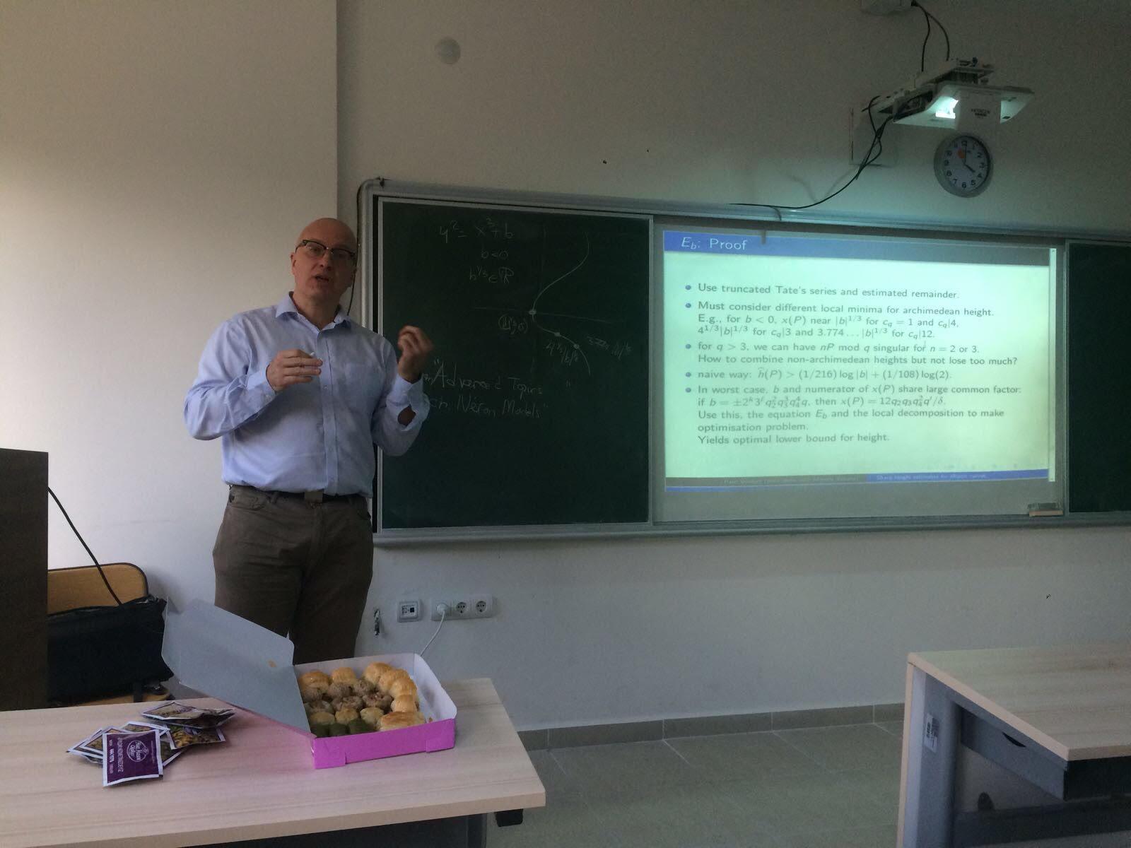 Dr. Paul Voutier Talked About Elliptic Curves