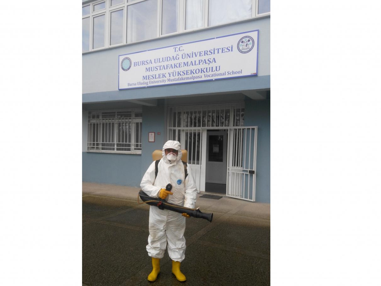 Koronavirüs (COVID-19) Salgını Nedeniyle Yüksekokulumuz İlaçlandı