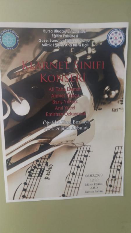 Klarnet Sınıfı Konseri 17 Mayıs 6 Mayıs 2020