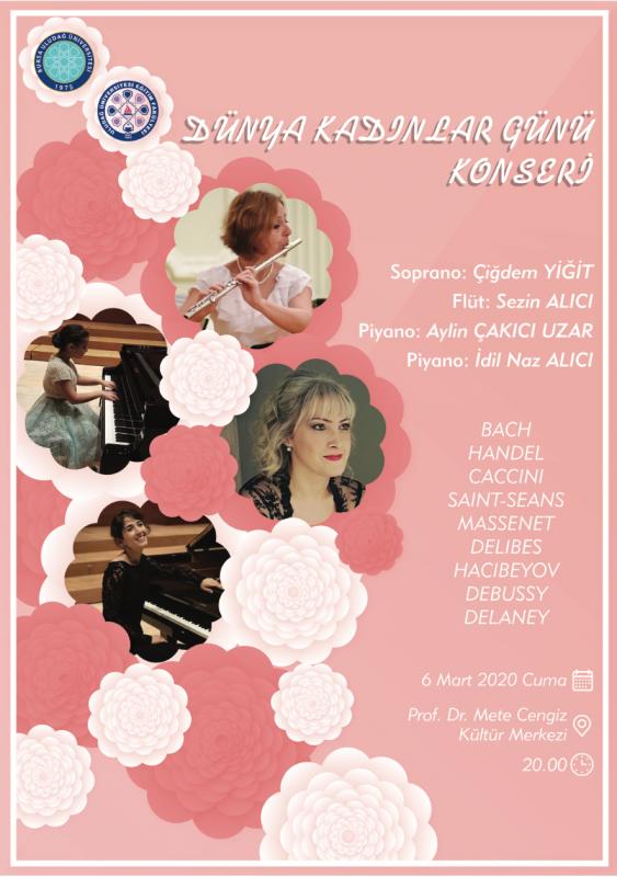 Dünya Kadınlar Günü Konseri 6 Mart 2020