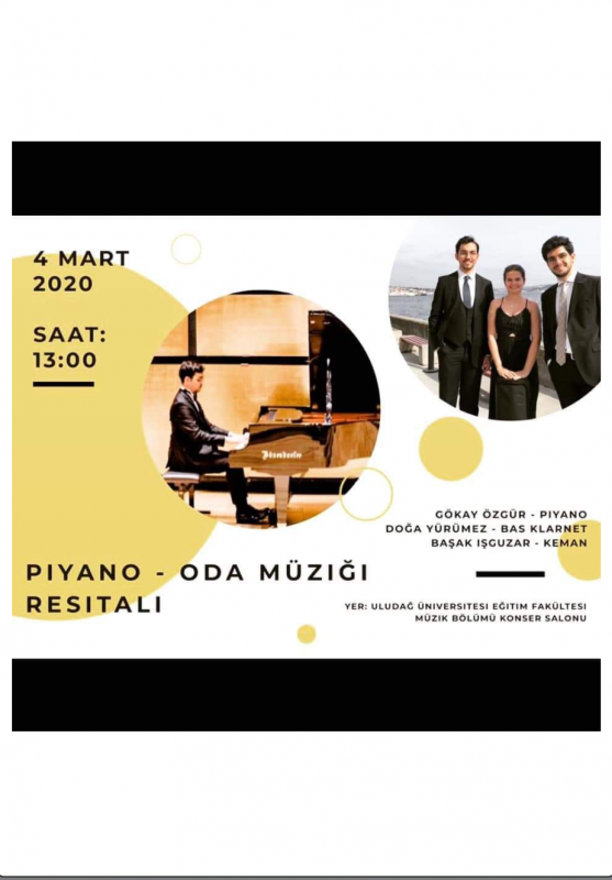 Piyano Oda Müziği Resitali 4 Mart 2020