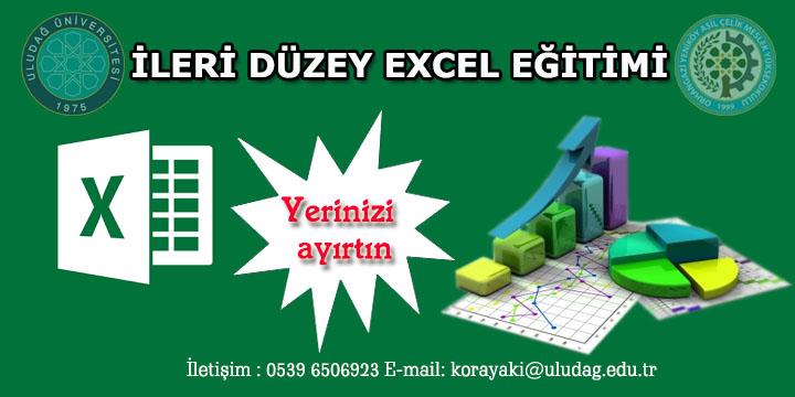 Excel'i Etkin Kullanma ve Raporlama Oluşturma