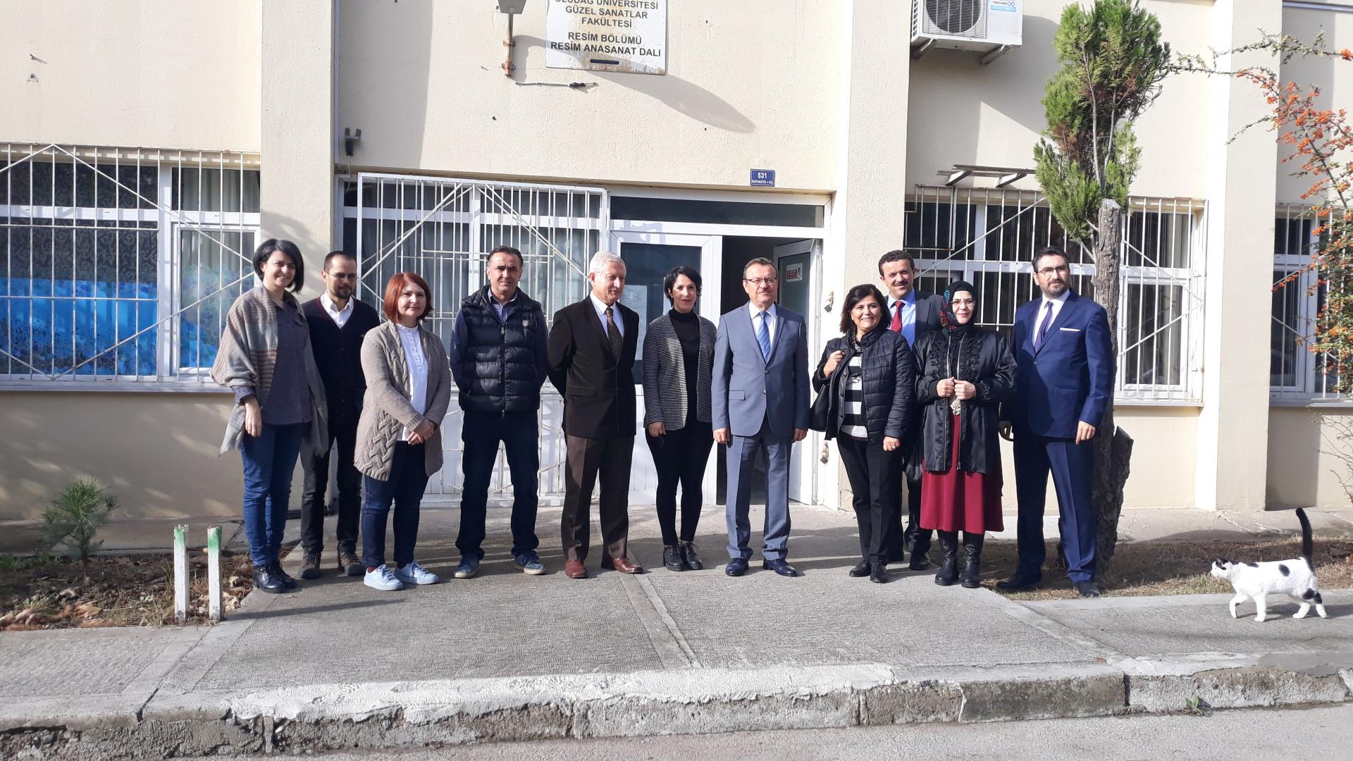 Rektörümüz Prof. Dr. Ahmet Saim KILAVUZ'un Fakültemiz Resim Bölümüne Ziyareti