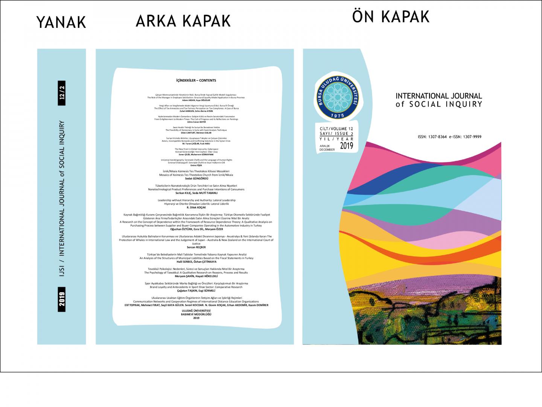 Sosyal Bilimler Enstitüsü Dergimizin Yeni Sayısı (12/2) Çıkmıştır.