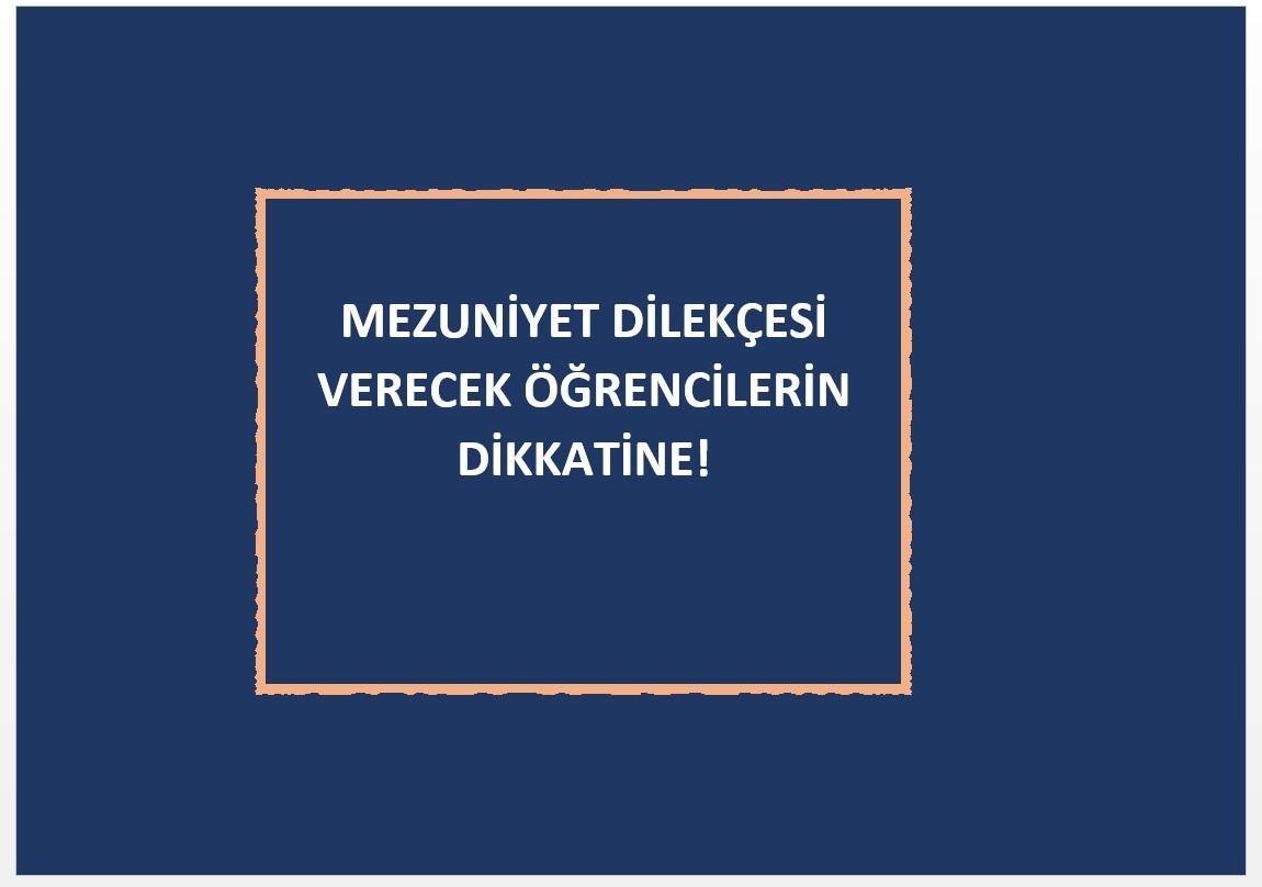 MEZUNİYET İŞLEMLERİ...