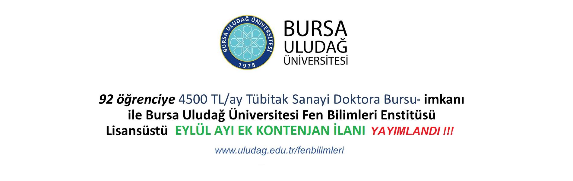 92 öğrenciye 4500 TL/ay Tübitak Sanayi Doktora Bursu imkanı