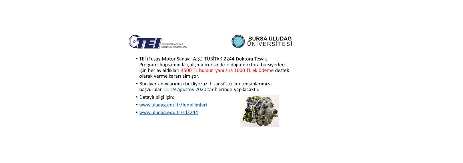TEİ'den Tübitak 2244 bursiyerlerine ek 1000TL destek