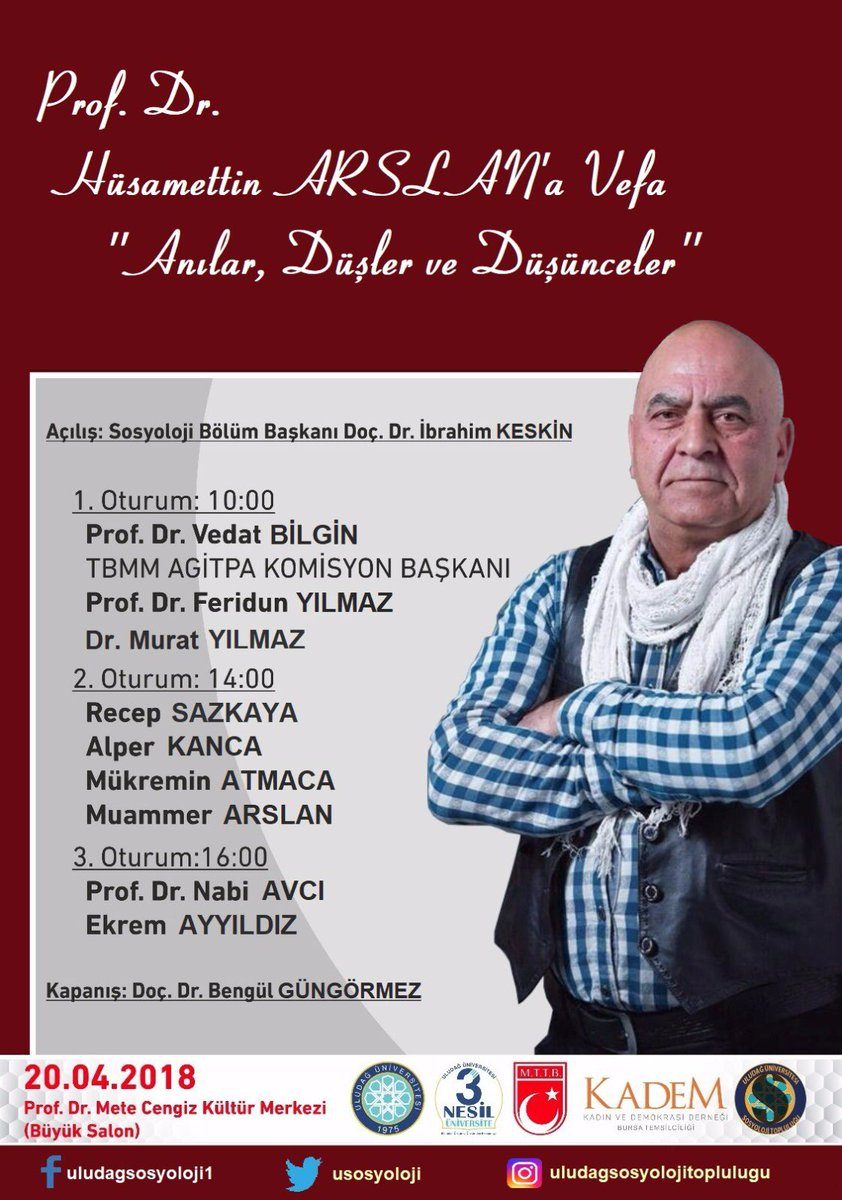 PROF.DR. HÜSAMETTİN ARSLAN HOCAMIZI ANMA PROGRAMI