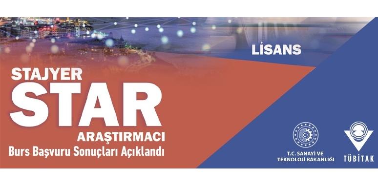 TÜBİTAK STAR 2020 STAJYER ARAŞTIRMACI PROGRAMI BAŞVURU SONUÇLARI AÇIKLANDI.