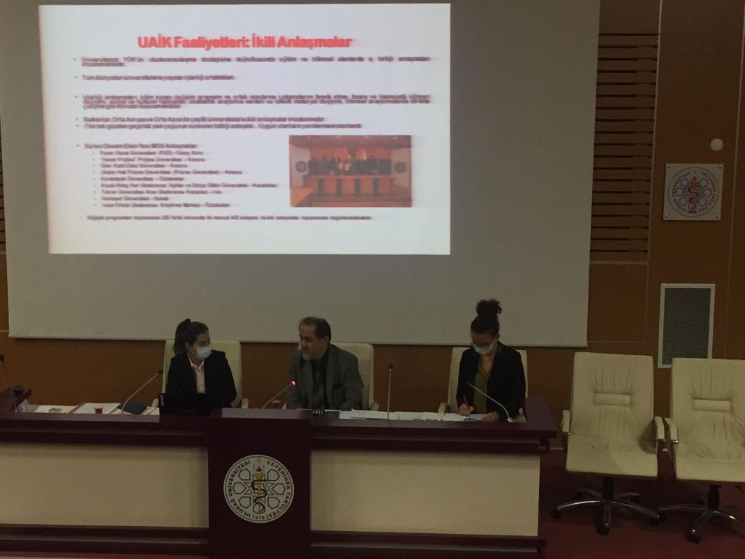 Uluslararası Akademik İlişkiler Koordinatörlüğünden Fakültemize Ziyaret
