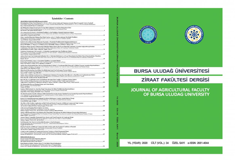 Dergimizin 2020 Yılı Özel Sayısı VII. SÜS BİTKİLERİ KONGRESİ/ I. INTERNATIONAL ORNAMENTAL PLANTS CONGRESS Yayınlanmıştır.