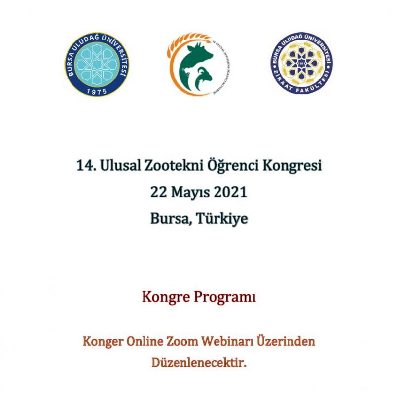 14. Ulusal Zootekni Öğrenci Kongresi Programı Yayımlanmıştır